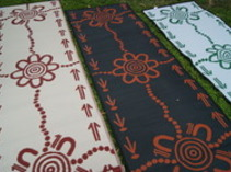 Aboriginal - 3 colour options of Emu & Kangaroo Tracks runners