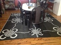 Indoor or Outdoor Recycled Indigenous Mats designed by De Greer Yindimincarlie, Wiradjuri Nation