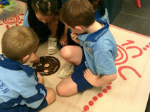 Indigenous mats are ideal for school use too