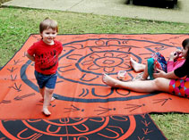 Reversible recycled play mats, ideal for both indoor or outdoor use