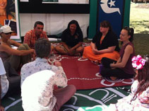 Yarning circle at Sunshine Coast University on Diversity day