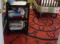 Yarning Circle mat in a child's nursery